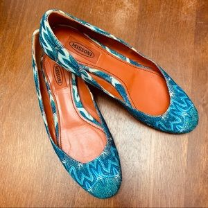 Missoni TM32 Turquoise Ballet Flats